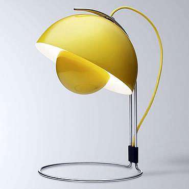 Luminária amarela Flower Pot por Verner Panton, Mixtape Design (R$ 797)  - Divulgação/Mixtape Design