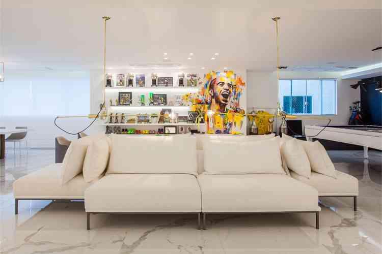 Casa do jogador de futebol Diego Tardelli feito pelas designers de interiores Cris Araújo e Linda Martins - Daniela Buzzi/Divulgação