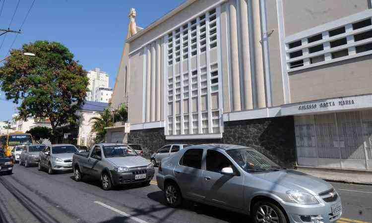Colégio Santa Maria, na Rua Pouso Alegre - Jair Amaral/EM/D.A Press