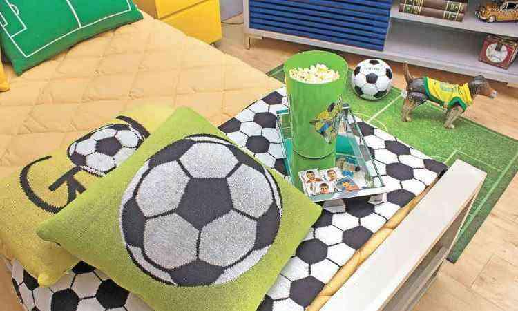 Como a maioria dos brasileiros, o futebol está no topo da lista dos pedidos para os decoradores - Juliana Buli/Divulgação