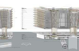 Construção de Centro Administrativo vai transformar o Centro de BH. Na foto, proposta do arquiteto Gustavo Penna, que venceu concurso nacional promovido pelo município
