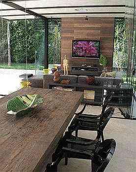 O espaço familiar integra a área de lazer à piscina - Valério Ayres/Esp.CB/D.A Press