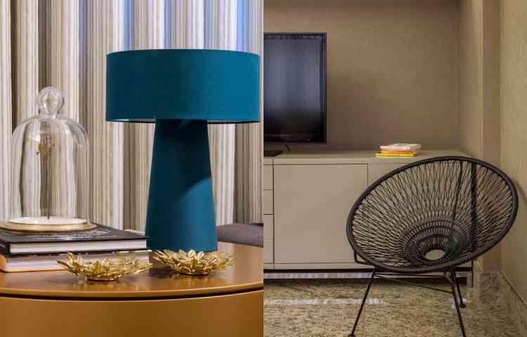 Adornos e móveis modernos estão em perfeita harmonia no apartamento de Nadir - Rodrigo Tozzi/Divulgação