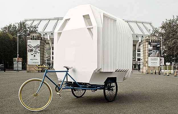 Com a possibilidade de ser levada para qualquer lugar, a Casa Triciclo foi indicada na categoria Mobilidade - Architizer A  Awards/Divulgação