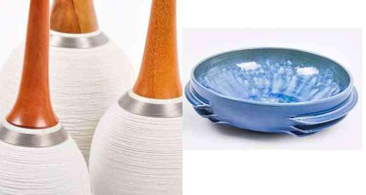 O artesão Magno Barroso cria peças diversificadas em cerâmica misturada a outras matérias-primas - Aline Borges/Divulgação