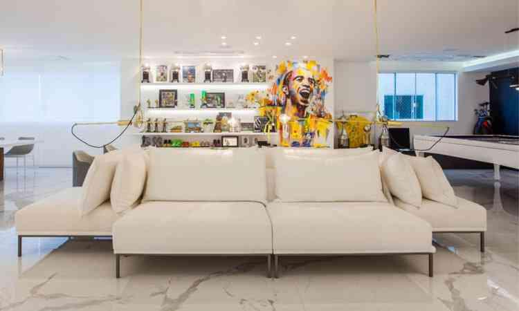 Projeto da casa do jogador de futebol Diego Tardelli feito pelas designers de interiores Cris Araújo e Linda Martins - Daniela Buzzi/Divulgação