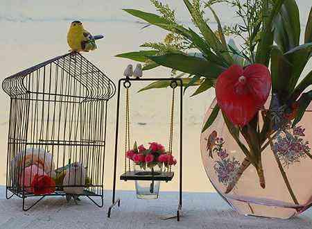 Composição com gaiolas na Aluízio Casa - Carlos Altman/EM/D.A Press