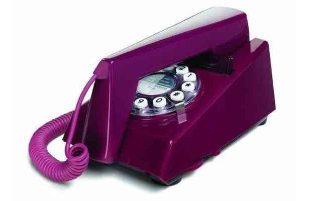 O Telefone Trim em estilo retrô é vendido por R$ 305  - Divulgação