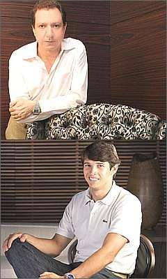 O aqruiteto e designer Eraldo Pinheiro e o gerente de marketing da Líder Interiores, Tiago Nogueira - Divulgação
