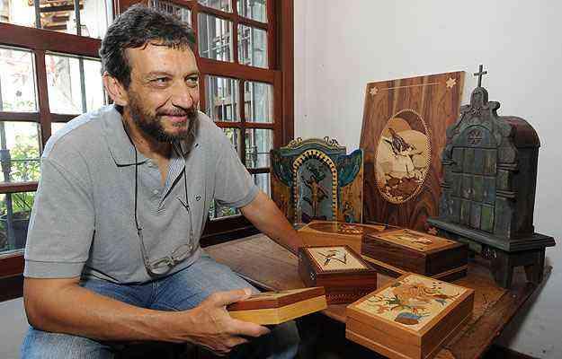 Ricardo Bittermann resgata a beleza da arte sacra das igrejas mineiras - Gladyston Rodrigues/EM/D.A Press