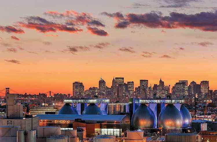Estação de tratamento em Nova York - Jeff Goldberg/Esto/Divulgação