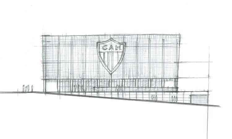 Croquis mostram como foi desenhada a nova fachada... - Farkasvölgyi/Divulgação