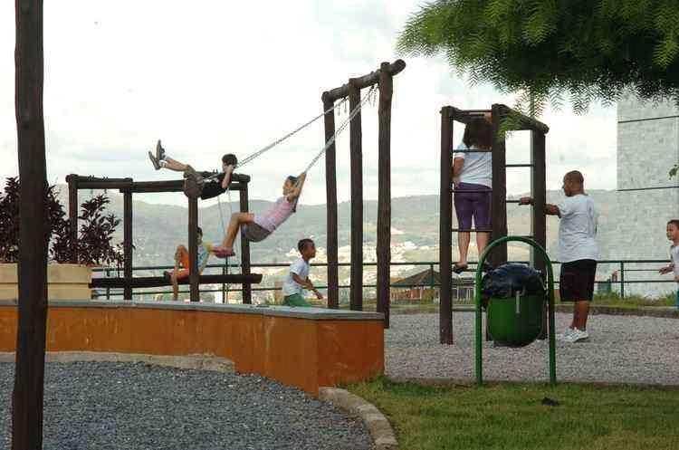 Criado em 1996, o Parque Municipal Orlando de Carvalho Silveira é a principal opção de lazer ao ar livre - Marcos Vieira/EM/D.A Press