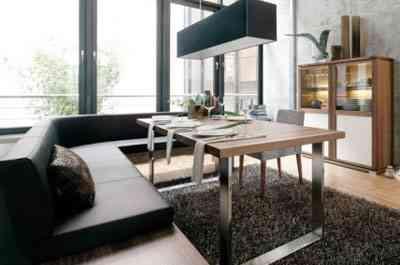 Uso do sofá é tendência para a sala de jantar - Divulgação / hülsta