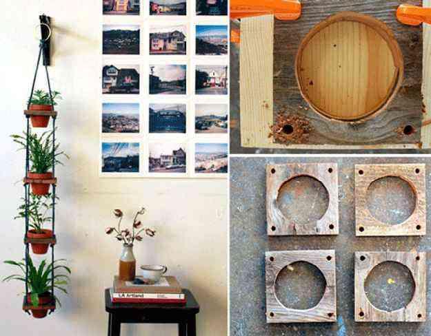 Mais uma vez, os suportes de madeira aparecem, presos dessa vez por cordas. - Homelife/Reprodução Internet