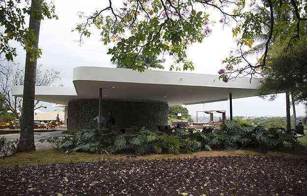 O tom modernista da construção consolida a tônica central do evento - Thiago Ventura/EM/D.A Press