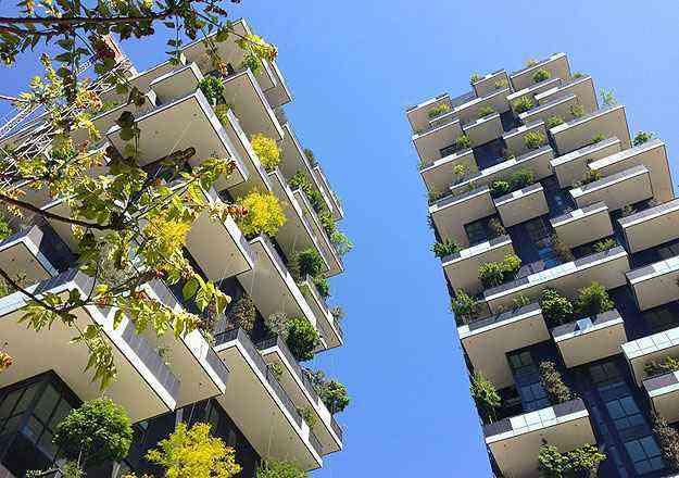 As torres foram planejadas com o conceito de floresta tropical em Milão, uma das cidades mais poluídas da Itália - Stefani Boeri/Divulgação