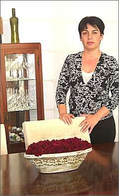 A arquiteta Marta Mello diz que adora jardins e escolheu três arranjos para sua casa - Arquivo pessoal