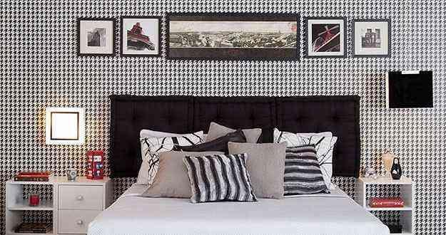 Entre papéis de parede, almofadas e cortinas, o grafismo pode compor diversos elementos da decoração - Divulgação/Leroy Merlin