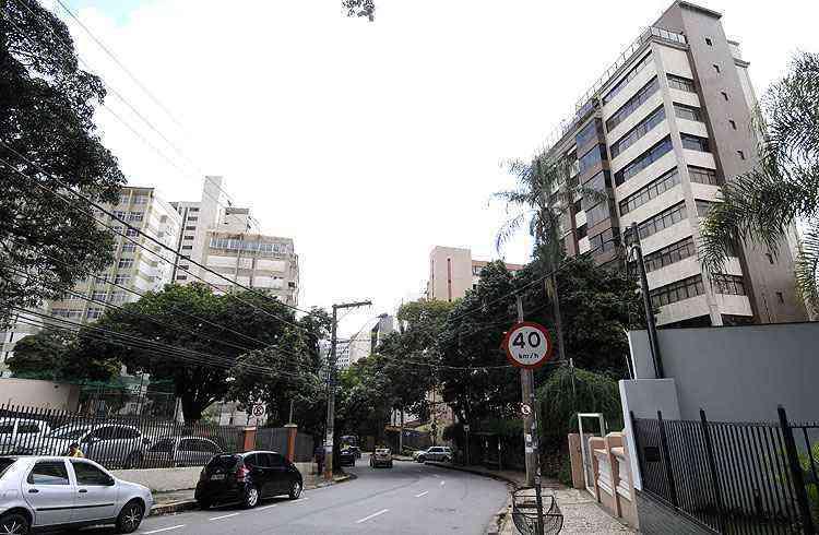 Rua Estevão Pinto é uma das principais vias do bairro e abriga prédios de luxo - Jair Amaral/EM/D.A Press