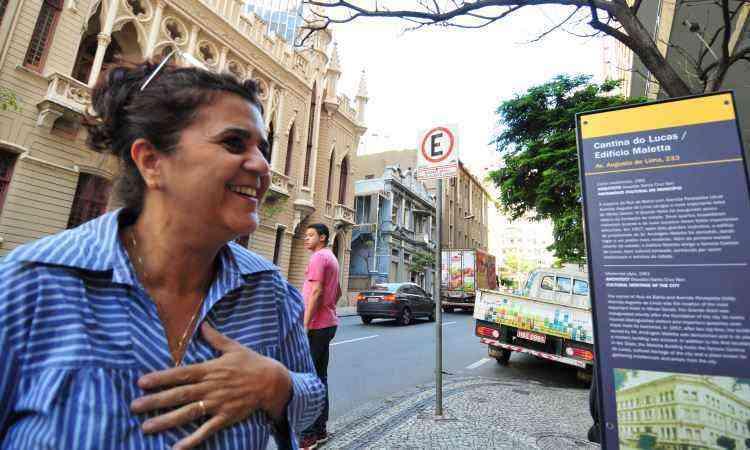 Técnica Denise Teixeira gostou do que viu e leu: Fica bem mais informativo, disse. - Alexandre Guzanshe/EM/D.A Press