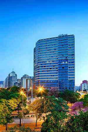Edifício Excelsior, no Centro de BH, passou por retrofit e virou um residencial - Gustavo Xavier/Divulgação