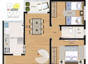 Apartamento, 2 Quartos, 1 Vaga em Teixeira Dias, Belo Horizonte, MG valor de R$ 218.000,00 no Lugar Certo