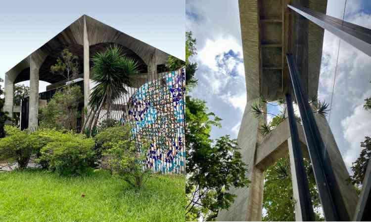 Casa Pouso Geométrico, na Praça do Papa, abriga a Modernos Eternos em BH - Carolina Davis/Divulgação