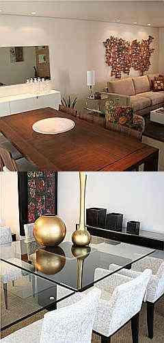 Uso de móveis de apoio, como aparadores, bares móveis, cristaleiras e louceiros é recomendado pelos especialistas para enfeitar o conjunto de sala de jantar - Gladyston Rodrigues/EM/D.A.Press