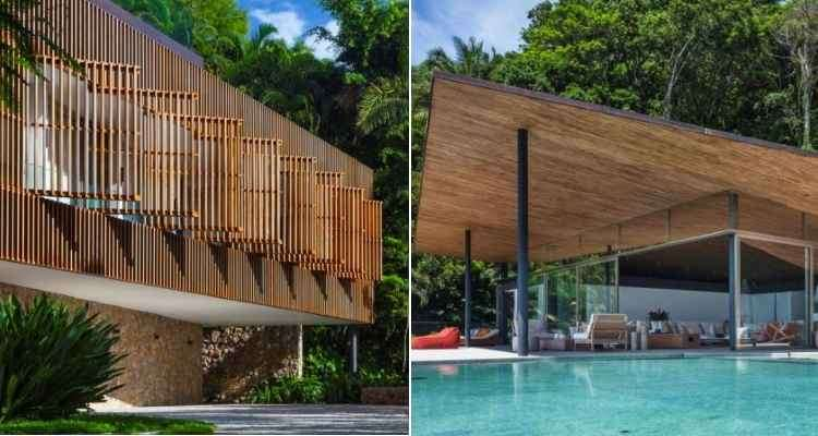 A Casa Delta, localizada no Guarujá, foi eleita pelo júri especializado como melhor residencial acima de 278 m² - divulgação / Architizer