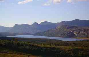 Vista parcial da Lapinha da Serra, Serra do Cipó, no município de Santana do Riacho
