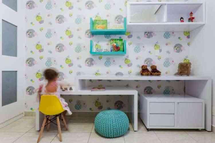 Espaço criado pela designer Fabiana Visacro foi pensado de acordo com a faixa etária, visando estimular o crescimento da criança - Osvaldo Castro/Divulgação
