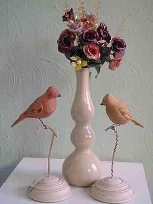Na Aluízio Casa, os pássaros aparecem em diferentes formas, tamanhos e materiais - Carlos Altman/EM/D.A Press
