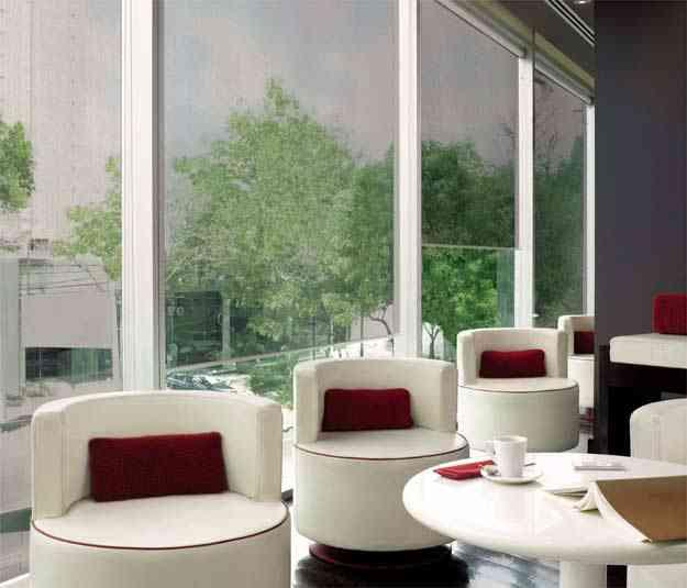 Proteção contra raios UV faz parte das características de cortinas usadas nos edifícios verdes -  Hunter Douglas/Divulgação