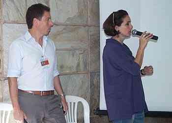 Sandro Schuback e Josette Condurú apresentaram os conceitos da mostra - Thiago Ventura/Portal Uai/D.A Press
