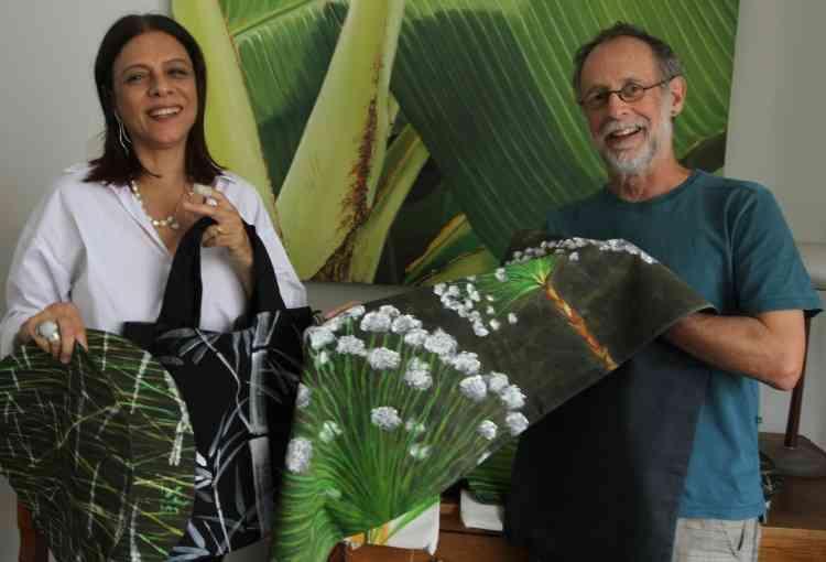 O artista plástico Estevão Machado e a joalheira Cátia Magalhães lançam nova linha de decoração para o lar - Jair Amaral/EM/D.A Press