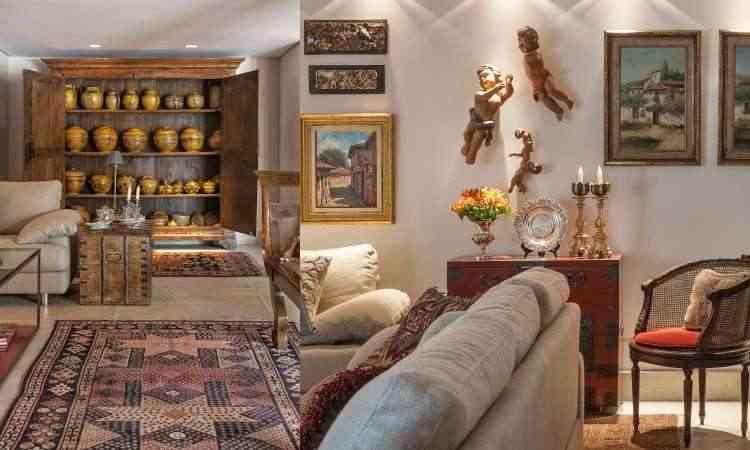 No projeto da designer de interiores Gislene Lopes, o leiaute oferece condições para que os artefatos se sobressaiam - Jomar Bragança/Divulgação