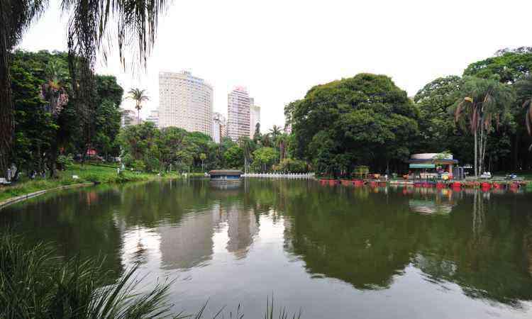 Tamanho atual do Parque Municipal é menos de um quarto do original - Alexandre Guzanshe/EM/D.A Press