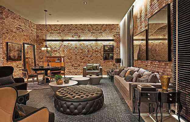 No ambiente de Marina Dubal, a inspiração vem dos pubs londrinos em um tom rústico e contemporâneo - Lider Interiores/Divulgação