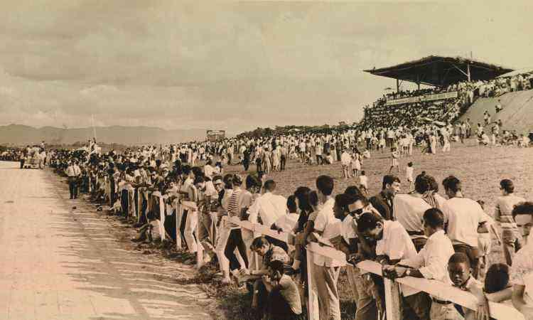 Inaugurado em 1965 e demolido em 2006, Hipódromo Serra Verde seria no Barro Preto - Arquivo EM - 04/04/1965