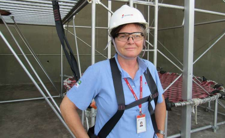 Supervisora do Departamento de Segurança do Trabalho do Seconci-MG, Andreia Kaucher Darmstadter diz que é cada vez maior o interesse de mulheres pelo setor - Seconci-MG/Divulgação