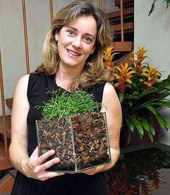 A paisagista Lúcia Borges diz que recipientes não podem atrapalhar o desenvolvimento das plantas - Eduardo de Almeida/RA Studio