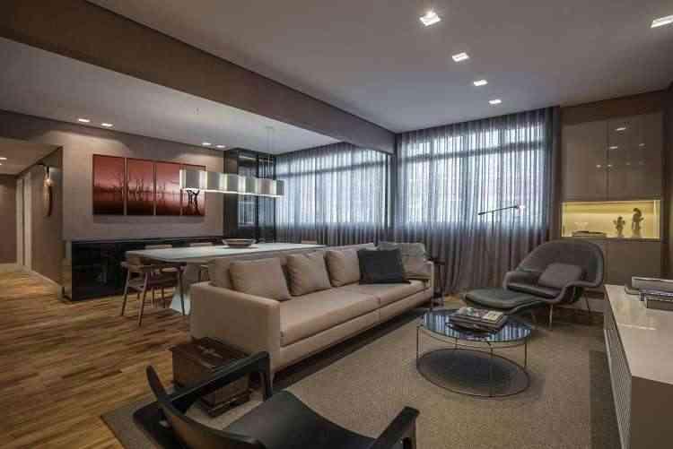 No projeto de Estela Neto, apartamento foi adequado ao estilo de vida do proprietário  - Daniel Mansur/Divulgação