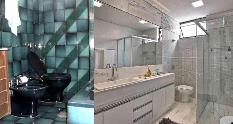 No banheiro reformulado por Fernanda Ferreira, um novo ambiente, amplo, leve e sofisticado - Arquivo Pessoal e Jomar Bragança/Divulgação