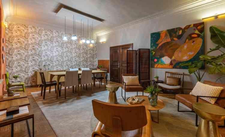 Ambiente Sala de Jantar e Conversação, da designer de interiores Andréa Azevedo   - Ivan Araújo/Fotografia de Arquitetura/Divulgação