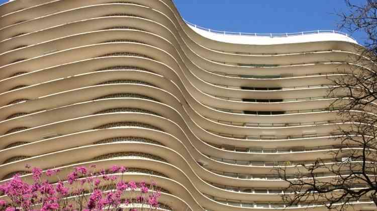 Edifício Oscar Niemeyer, na Praça da Liberdade, é um ícone da arquitetura em Belo Horizonte - Gladyston Rodrigues/EM/D.A Press