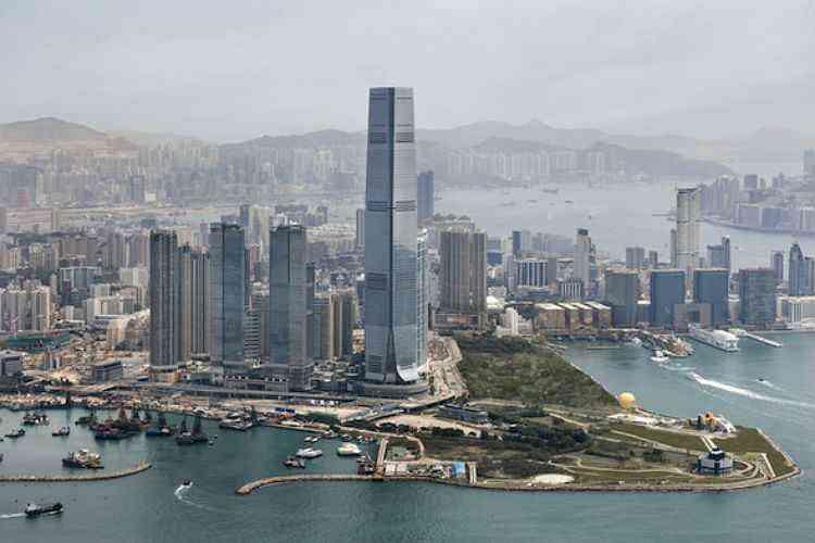 International Commerce Center, em Hong Kong, na China - Reprodução da Internet