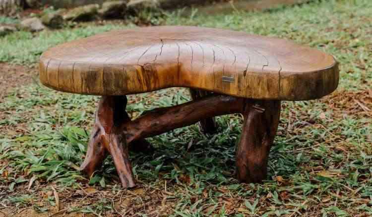 Troncos e galhos vão ganhando forma e se transformando em móveis e peças decorativas - Cecília Arbolave/Divulgação