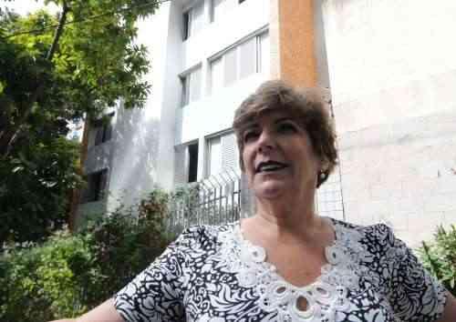 A ex-síndica Cristina Carvalho diz que as mulheres do prédio se sentiram desprotegidas diante de moradores temporários  - Paulo Filgueiras/EM/D.A Press
