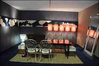 Ambiente 'Sala de Jantar' dos decoradores da família Camila Guerra, no Decora Fácil Unilar 2010 - Foto: Sidney Lopes/EM/D.A Press